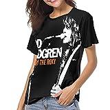 Bagew T-Shirt Donna,Maglietta Todd Rundgren Women's Baseball Tee Short Sleeve Round Neck Casual Top e Bluse