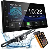 Kenwood Mechless 6.8' Digital Media Receiver, Apple CarPlay & Android Auto + Bar Backup Camera Included + Phone Magnet...