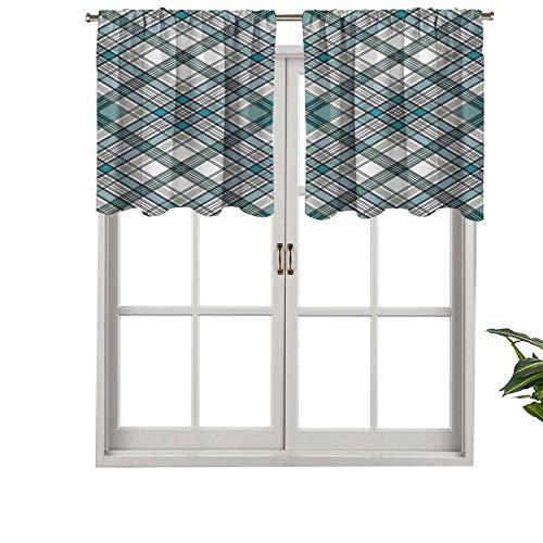 Hiiiman Cenefa corta recta, estilo rústico inglés con aspecto moderno, juego de 1, 132 x 45 cm para ventanas de cocina