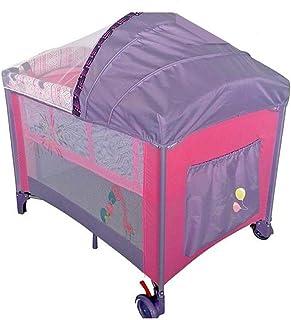 Children Bed with Umbrella, Multicolor
