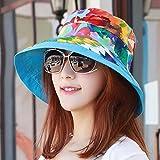 XINQING-MZ Delgado, la tapa se puede plegar la tapa doble cara visor femenino playa hat, escapadas románticas cap paño verde PAC sun cap, color/C
