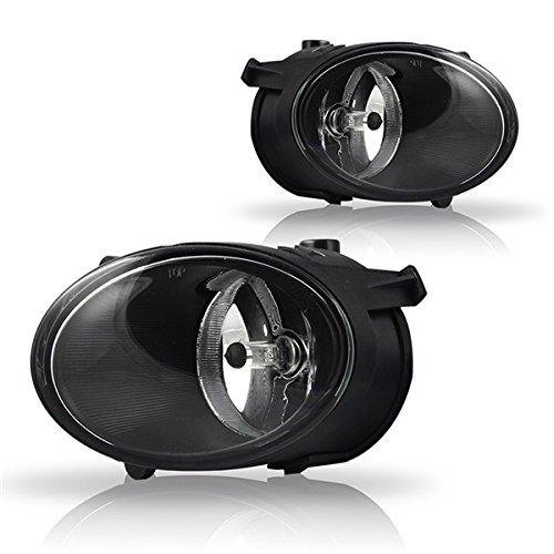 Winjet Fog Lights Compatible With 2005-2008 Audi A6 | Polycarbonate Resin Clear Driving Running Foglight Foglamp Lamps LED Super Bright | 2006 2007