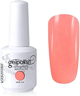 Vishine Gelpolish Soak-off Nail Art UV LED Nail Polish Salon Manicure Light Salmon(515)