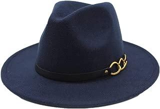 RongAi Chen New Men Women Wool Fedora Hat With Leather Belt Autumn Wide Brim Jazz Hat Pop Hat Church Casual Fascinator Hat Size 56-58CM