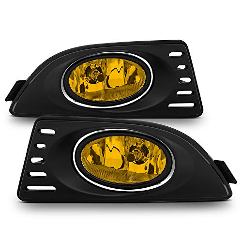 ACANII - For 2005 2006 2007 Acura RSX Yellow Lens Bumper Fog Lights Assembly Driving Lamps w/Switch Driver & Passenger