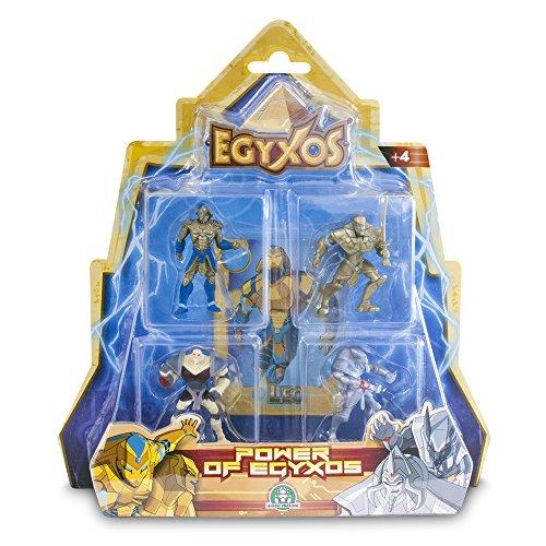 Egyxos–Blister con 4personaggi e 4carte (Giochi Preziosi gyx03111)