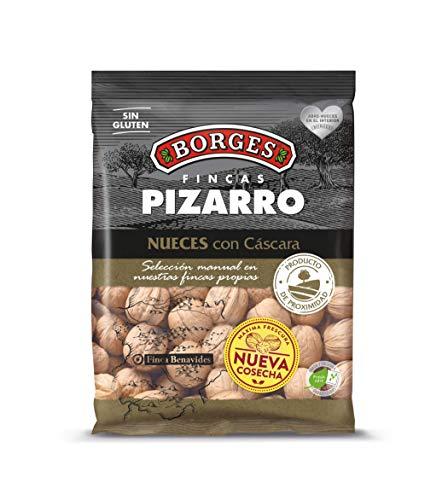 Borges Pizarro - Nueces con Cáscara Elaboradas Íntegramente en la Península Ibérica - Bolsa de 500 Gramos.