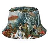 Sombrero El Jardín Chino Asia Primavera Excursión Bosque Sedán Silla Verano Pescador Cap Playa Sol Sombreros Gorras de Pesca Gorra de Béisbol Mujeres Hombres Adolescentes Plegable Cubo Sombreros Negro