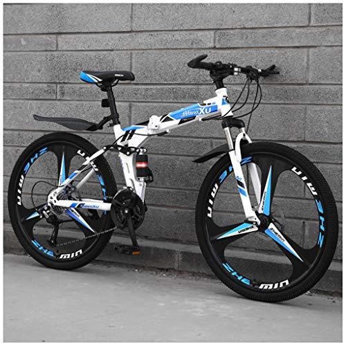 ZDZXC Bicicleta Plegable Outroad Mountain Bike 21 Velocidades 26 Pulgadas Rueda Integrada Ultraligera Doble Absorción De Impactos Cambio De Velocidad Fuera De Carretera Ruedas De Torre