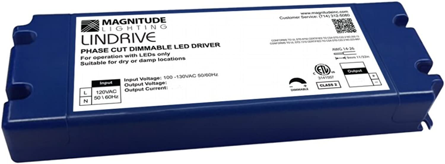 LED Driver - 12V Magnitude - 20W Lindrive Transformer LED Constant Voltage Dimmable Driver by Inspired LED