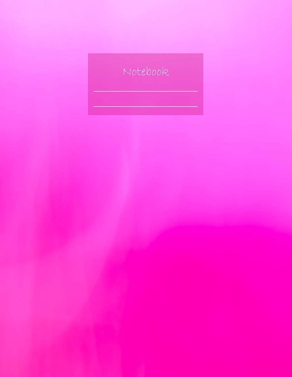 鳩持続するいまNotebook: Large notebook with 120 Lined pages. Wide ruled. Ideal for School notes, Journaling, Hand lettering, Calligraphy practice. Perfect gift. 8.5' x 11.0' (Large). (Pink cover).