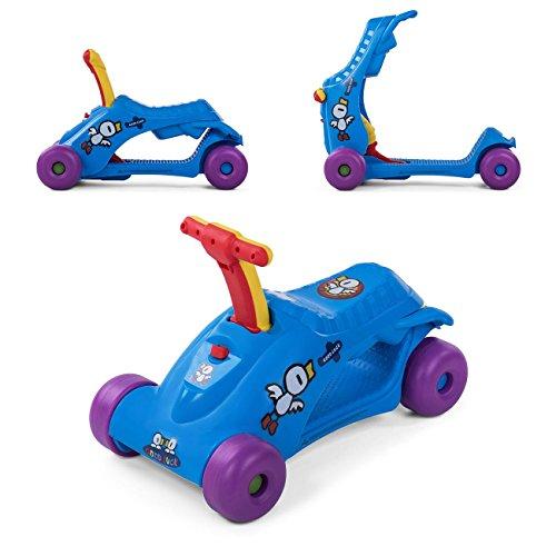 Baby Vivo Scooter Loopstoeltje 2in1 Multifunctioneel Roller Runner voor kinderen- Blauw