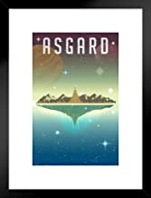 Asgard Fantasy Travel Comic Book Superhero Poster 12x18 Inch Poster - 12x18 Framed Matted in Black Wood 20x26 inch Black 501118