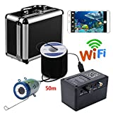 CHINVSHI HD WiFi Wireless Underwater Fishing Camera Video Recording iOS Android APP Supports Video Recording and Photo, 1000TVL Camera (50M)