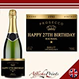 Affiche Prints L9 Personalised Celebration Prosecco Brut Bottle Label Grand Vintage For Any Occasion!