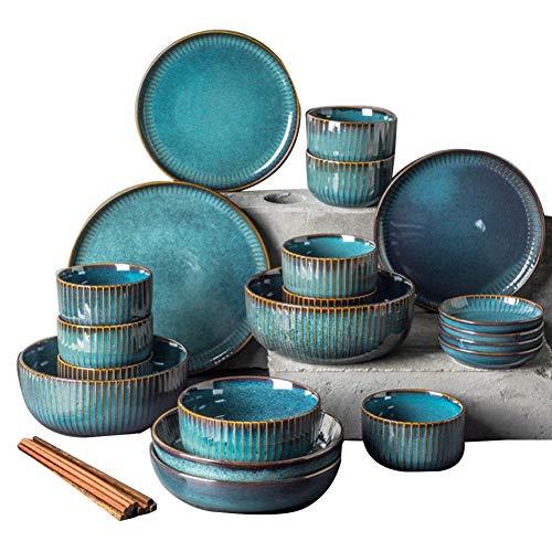 XLNB - Juego de vajilla de cerámica (28 piezas)