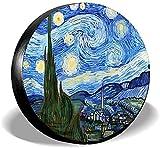 Van Gogh Starry Sky - Cubierta para neumáticos de repuesto,poliéster,universal,de 17 pulgadas,para ruedas de repuesto,para remolques,caravanas,SUV,ruedas de camiones,camiones,caravanas,accesorios par