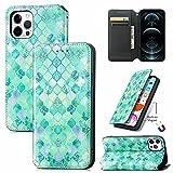 Funda para teléfono Huawei Y5p, a prueba de golpes, 3D de piel sintética, con función atril, ranuras para tarjetas, cubierta protectora para Huawei Y5p, color verde