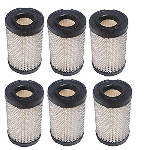 OxoxO filtre à air pour Tecumseh 35066, 740095 Lesco 050128 Sears 63087 A faciles à Oregon 30–301 tondeuse à gazon haute qualité filtre à air de rechange 6 Pcs