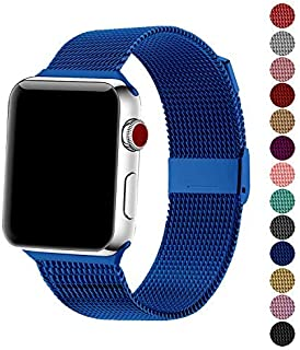 SexHope Compatible for Apple Watch Band 38mm 42mm 40mm 44mm Series 5 4 3 2 1 (Blue, 38mm/40mm)