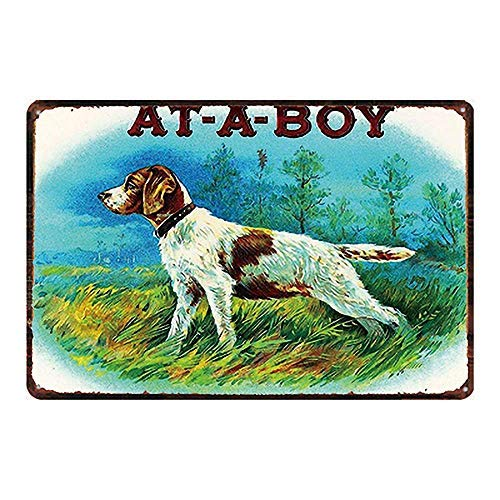 at-A-BOY Vintage Tin Teken Muurdecoratie voor Cafe Bar Thuis Bier Pub Metalen Tin Teken 8x12 inch