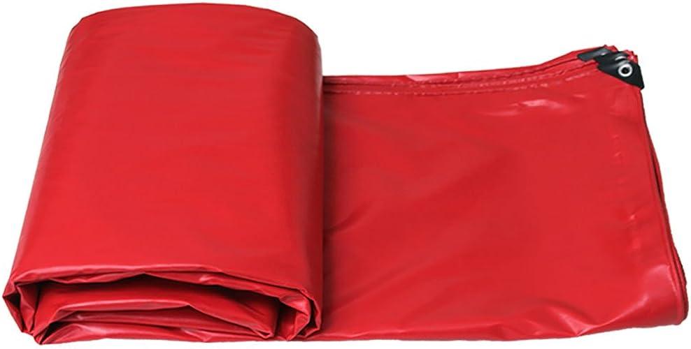 YAN FEI Bache Imperméable Lourde Bache PVC imperméable Robuste Rouge Anti-Pluie Feuille de bache de Prougeection Solaire Pare-Pluie Se Pliant Facile à Transporter (Taille   6X4m)