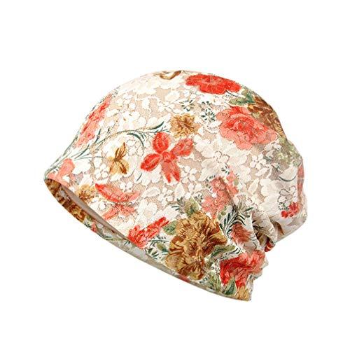 TENDYCOCO Chemo Cap Baumwolle Weiche Chemotherapie Hut Spitze Turban Hut Blumen Mütze für Frauen