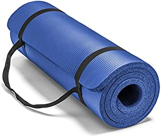 """Spoga Premium Extra Thick 72""""*24"""" Long High Density Exercise Yoga Mat with Comfort Foam and Carrying Straps"""