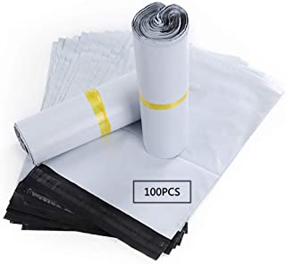 "HVDHYY Shipping Postal Bags for Clothing with Self Adhesive White Poly Mailers Envelopes Sacks Courier Postage Packaging Supplies Bags Waterproof and Tear-Proof9.84"" X13.77""/25cmX 35 cm"