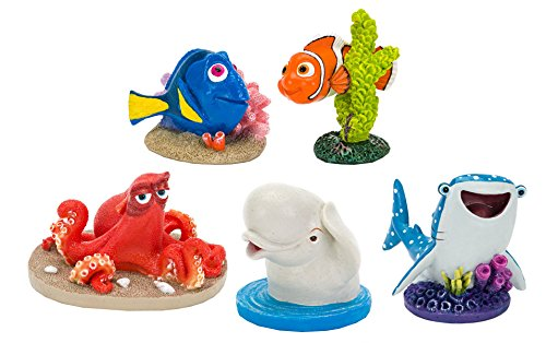Penn Plax Disney Finding Dory, Nemo Set of Five Aquarium Decorations, Small
