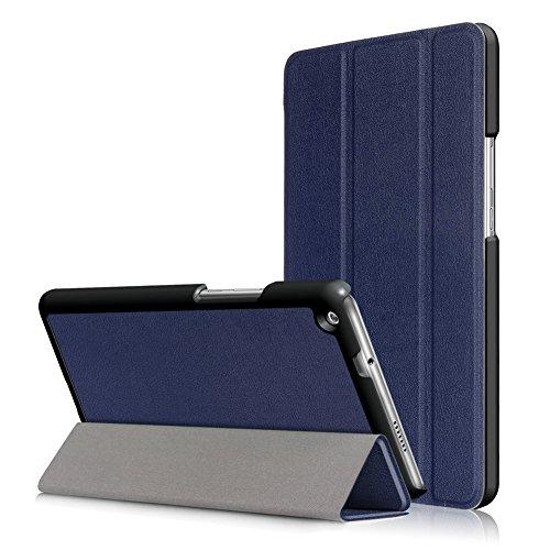 Kepuch Custer Hülle für Huawei MediaPad M3 Lite 8.0,Smart PU-Leder Hüllen Schutzhülle Tasche Hülle Cover für Huawei MediaPad M3 Lite 8.0 - Blau