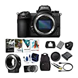Nikon Z6 Mirrorless Digital Camera Body with Nikon Mount Adapter and Software Accessory Bundle (6 Items)
