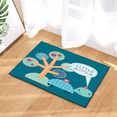 YjkAJuQeP Türmatte Teppich Indoor.Dusche Badezimmer Eingangsmatten Teppiche Fußmatte.Indoor Und Outdoor Fußmatte. Kinder Badematte, Badematten. Küchenmatte.40Cmx60Cm.Apfelbaum.