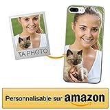 Coverpersonalizzate.it Coque Personnalisable pour Apple iPhone 7 Plus / 8 Plus avec ta Photo, Image ou Inscription. Étui Souple en TPU Gel Transparent. Impression de qualité supérieure