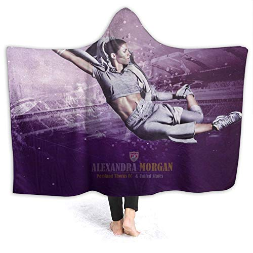 Sunny Rainy Day Alex Morgan Hoodie Throws for Home Sofa Couch Bed Office Livingroom and Soft Warm Bedding Decor 80' X60
