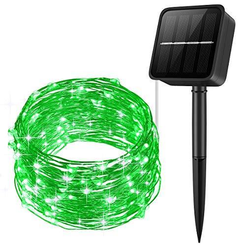 Criacr Solar String Lights, 100 LED 8 Modes Solar Lights Outdoor, 10m Solar Garden Lights, Waterproof Fairy Lights for Christmas, Tree, Garden, Home, Wedding, Pathway, Party (Green)