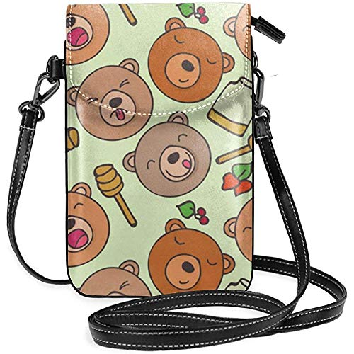 Interieur shop mobiele telefoon tas WalletWomens klein patroon van Forest Bears Honey Crossbody Bag handtas