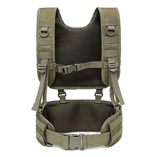 Leezo Tactical Padded Battle Belt mit abnehmbaren Strapsgurten Airsoft Combat Duty Belt mit bequemen Pads und abnehmbarem Gurtzeug für das Training im Freien, Taktische Gurte