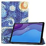 HoYiXi Funda para Lenovo Tab M10 HD (2nd Gen) 10.1 Pulgadas Tableta 2020 Estuche de Tableta con Función de Soporte Funda Cover para Lenovo Tab M10 HD (2nd Gen) 10.1 TB-X306X/TB-X306F- noche estrellada