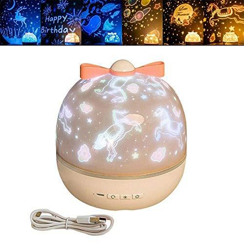 Proyector de 360 grados de rotación de cielo, proyector de luz nocturna, altavoz Bluetooth, luz estrellada LED, para niños, adultos, Halloween, regalos de Navidad
