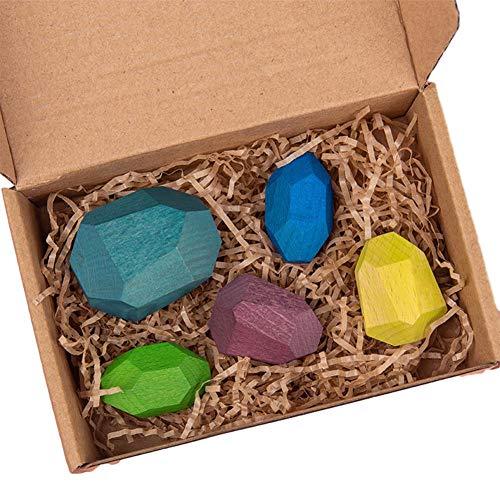 Farbige Stein Jengas Stapelspielzeug Ornament Lernspielzeug Für Jungen Mädchen