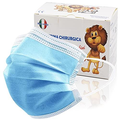 100 Stück medizinische Masken Kinder,OP Masken Kinder CE zertifiziert...