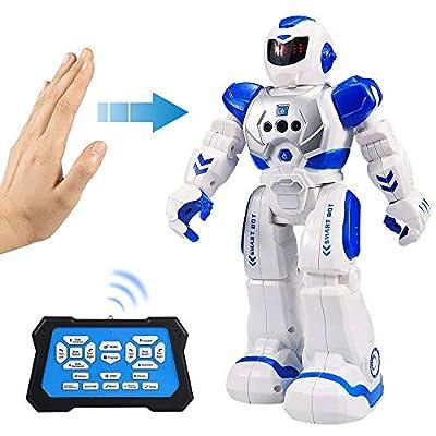 Flyglobal Smart RC Robot Toy for Kids, Gesture Sensing Singing Walking Dancing Robot for Boys Girls, Intelligent Programmable Smart Remote Control Robot Kit Toys by Flyglobal