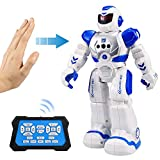 Flyglobal Smart RC Robot Toy for Kids, Gesture Sensing Singing Walking Dancing Robot for Boys Girls, Intelligent Programmable Smart Remote Control Robot Kit Toys Blue