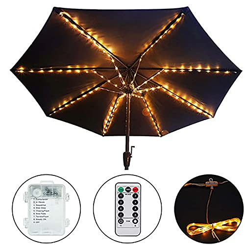 'N/A' Paraguas Paraguas, Luz Solar, Luz Solar, 104pcs 8 Modo Led Paraguas De Paraguas con Control Remoto, Paraguas Impermeable Solar Inalámbrico Decoración De Jardín Al Aire Libre