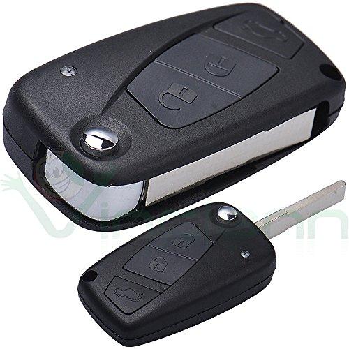 Hartschalenhülle für Funkschlüssel mit 3 Tasten, faltbar, für FIAT Grande Punto Stilo Idea Doblo Ulysse Ducato CGP