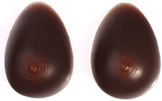 Envy Milk Chocolate Brown Silicone Breast Forms,Mastectomy Cross Dress (2XL(8))