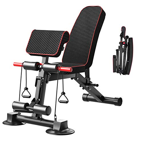 Adjustable Weight Bench  Utility Weight Benches for Full Body Workout Foldable Flat/Incline/Decline Exercise MultiPurpose Bench for Home Gym DZ