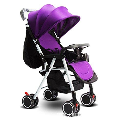 Landau JM La Poussette de bébé Peut s'asseoir et Se Plier Quatre Saisons Disponibles Chariot à Quatre Roues d'enfants ( Color : B )