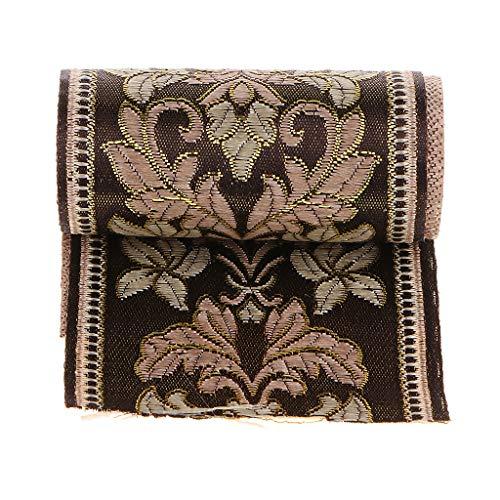 Cinta Tejida Cinta Decorativa de Diseño Medieval Adorno de Encaje para Artesanía de Costura,Largo de 5 Metros - 6cm